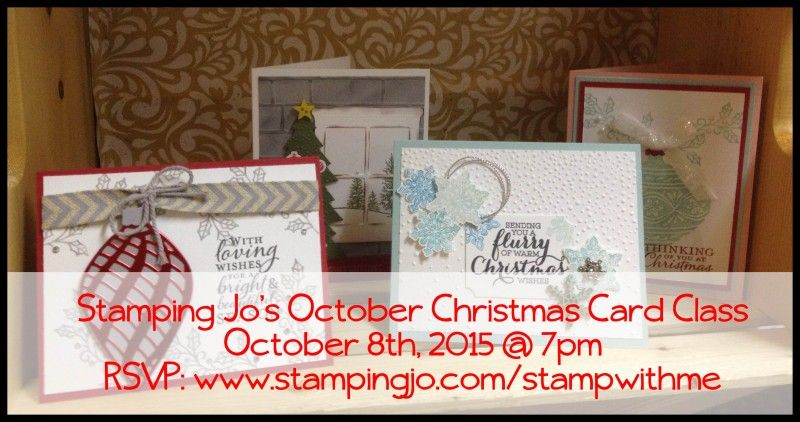 StampingJo's October Christmas Card Class