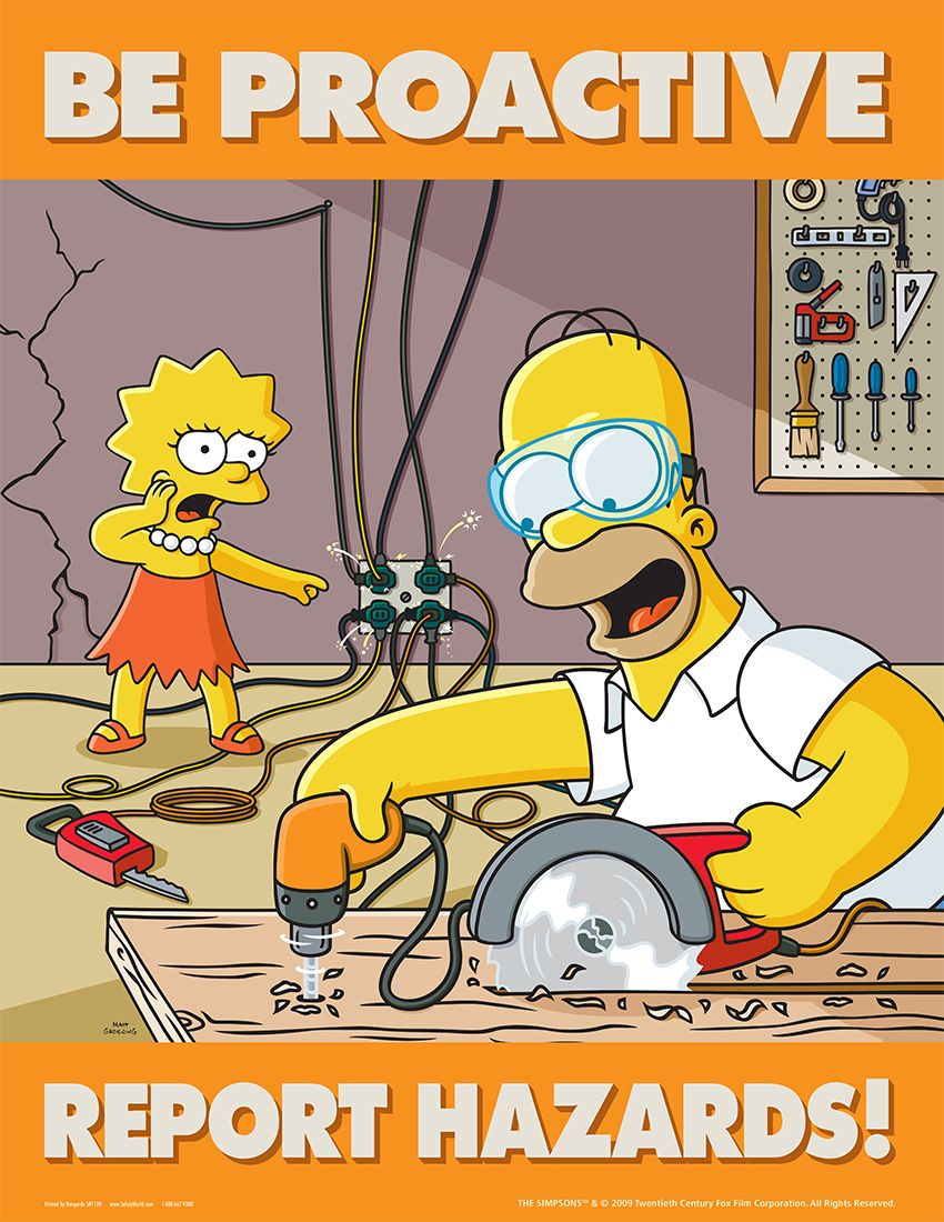 Simpsons Safety Meeting Kit Be Proactive Report Hazards