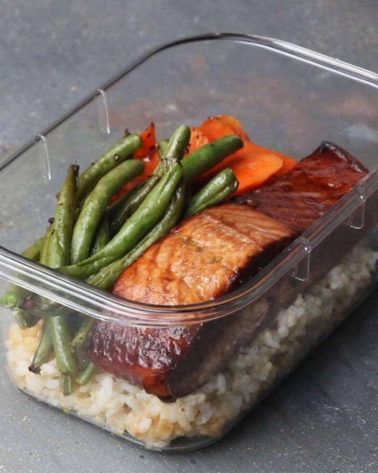 Grab your workout buddy and make this healthy salmon meal pr images