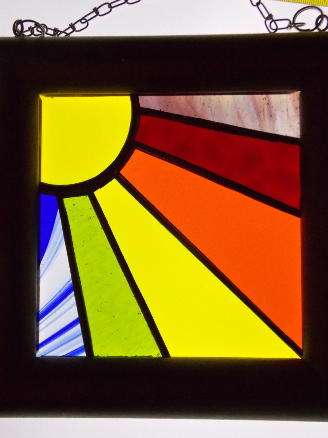 Stained Glass Panel Rainbow Sunshine 7\