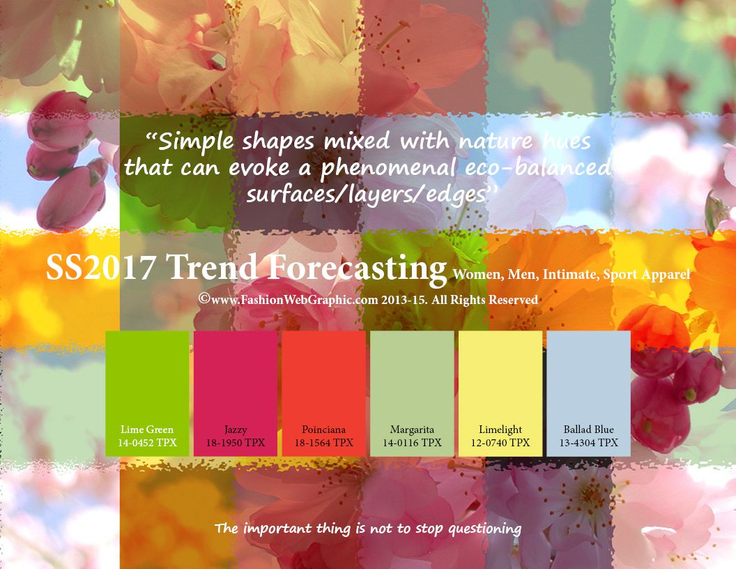 trend forecasting spring summer 2017 on behance trends colours