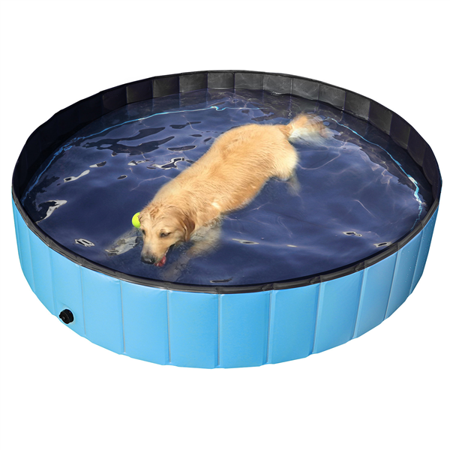 Outdoor Foldable Pet Dog Swimming Pool Blue 63 Walmart Com In 2021 Dog Pool Dog Swimming Pools Dog Swimming