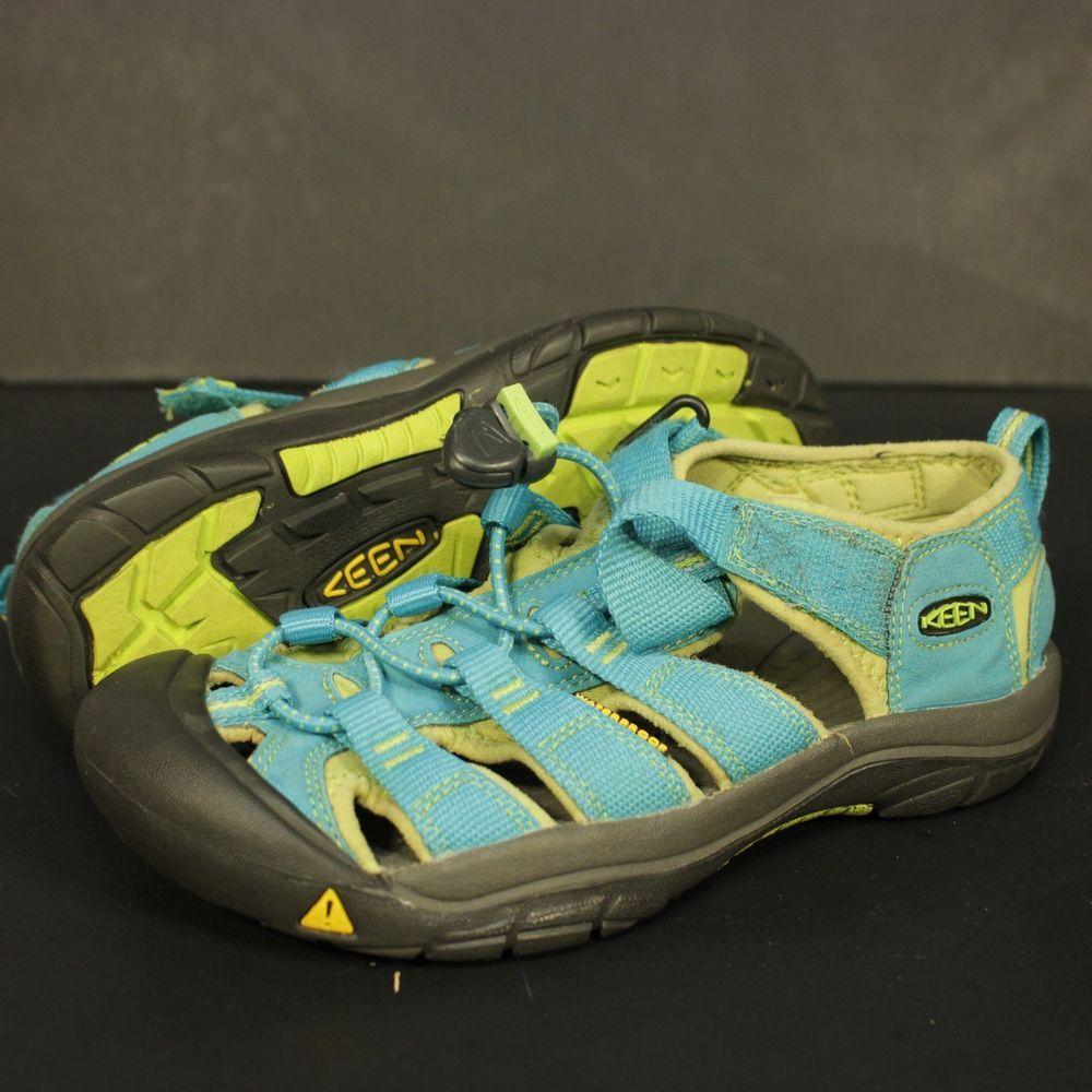 81859e236392 Keen Sandals Sz 2 Teal Green Grey Waterproof Foot Wear Trail Hiking Big Kids   KEEN  Sandals