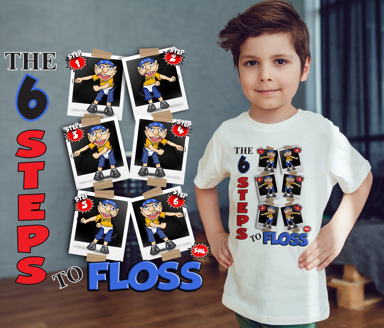 a3f17bd5c611 Jeffy The 6 Steps to Floss SML T-Shirt - Floss SML - Floss Jeffy ...