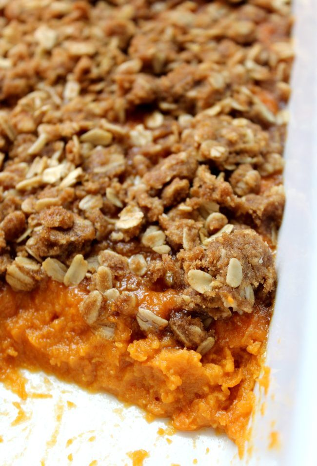 Sweet Potato Casserole with Oat Streusel - Love to be in the Kitchen