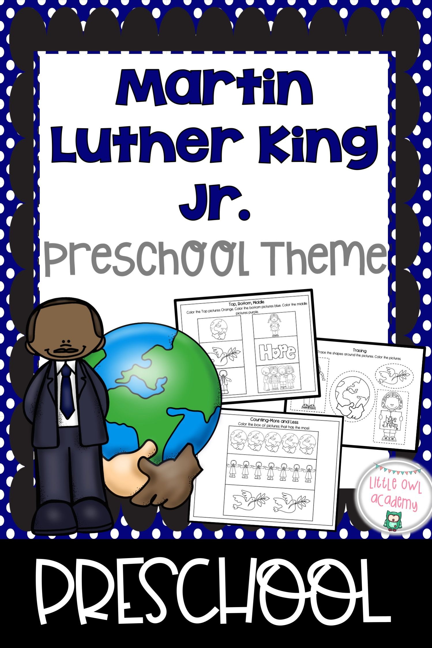 Martin Luther King Jr Preschool Packet In