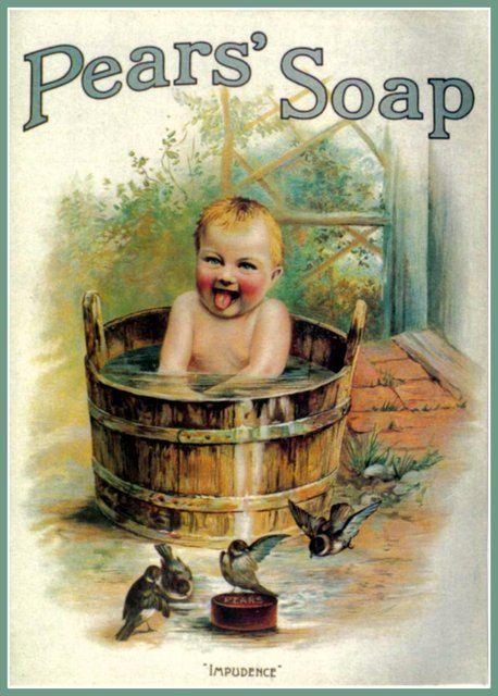 Art Print Bathroom Art Pears Soap Advert Poster - Print 8 x 10
