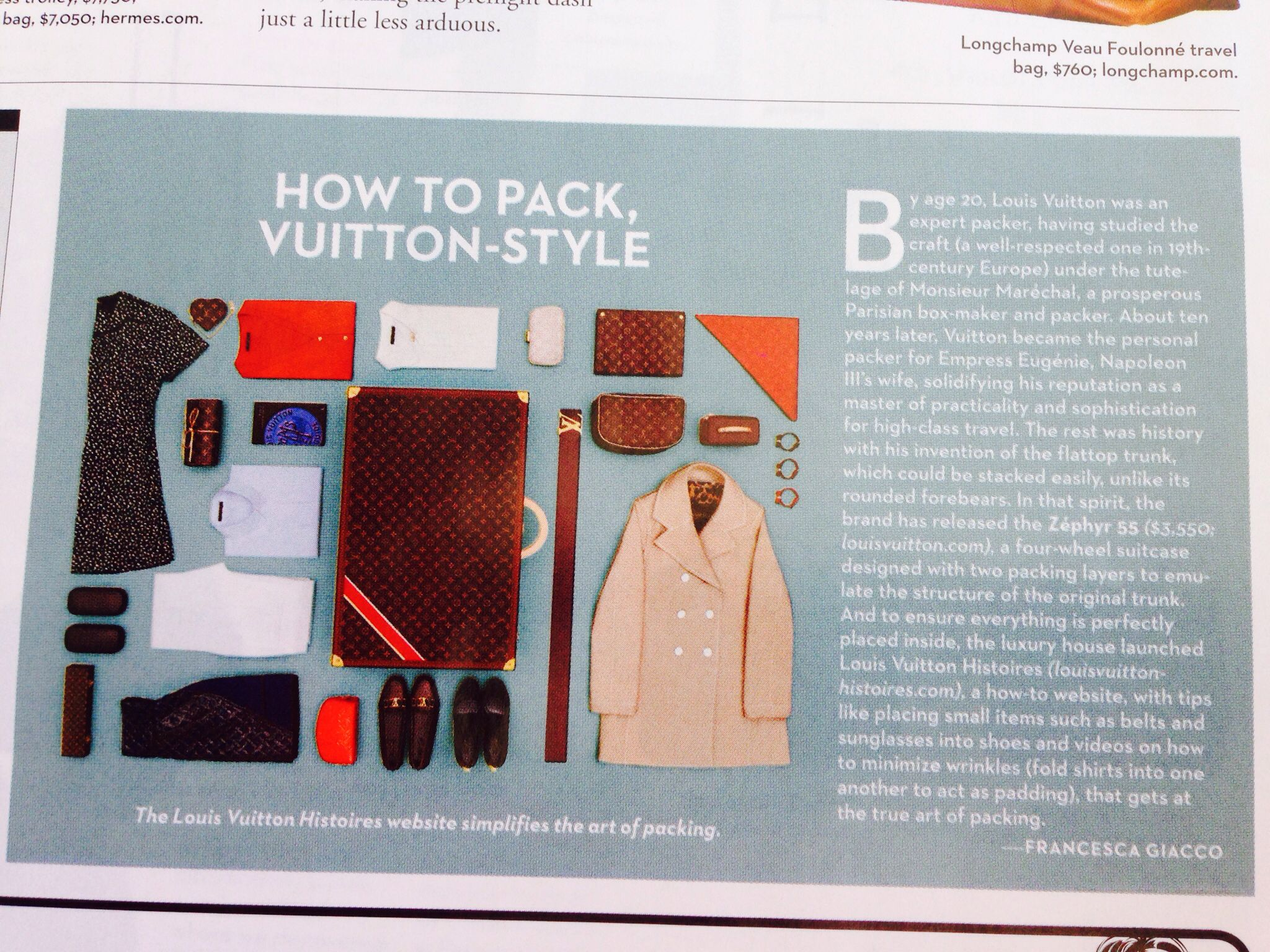 Packing tips.