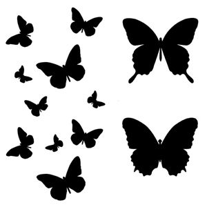 Template butterfly flight diy silhouette flex paper vinyl pinterest pochoir papillon - Silhouette papillon imprimer ...