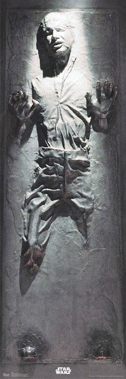 Star wars han frozen in carbonite poster thinkgeek star wars pinterest star starwars and - Han solo carbonite wall art ...