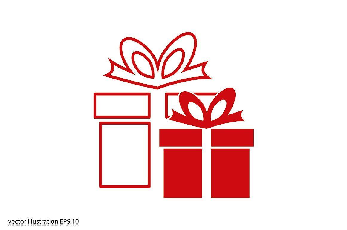 Gift Box Icon Box Icon Gift Logo Graphic Design Brochure