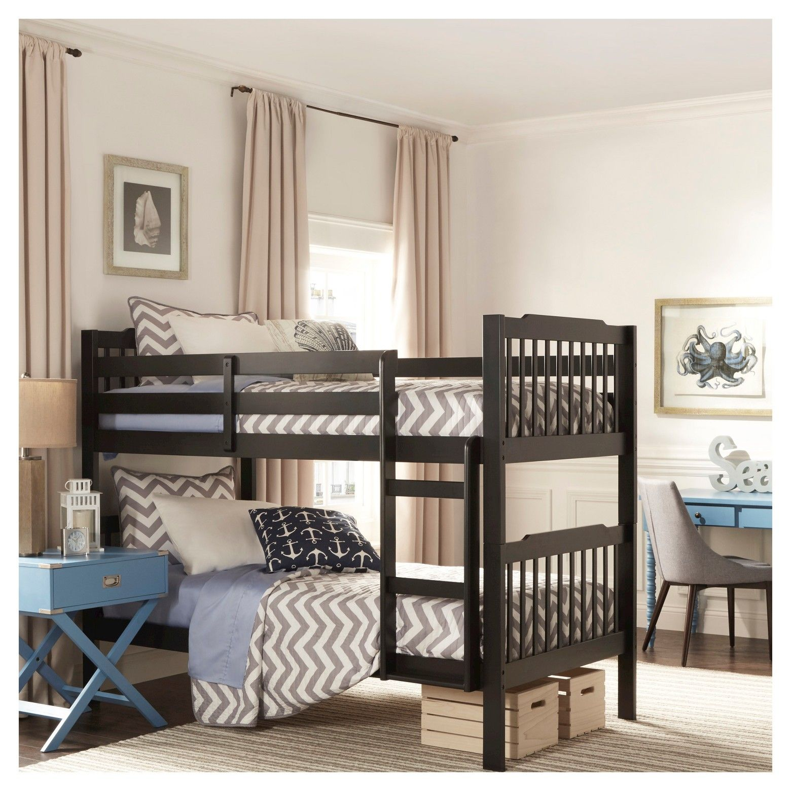 Add the perfect addition to your little cuties room with the Nacona Mission Bunk  Bed!