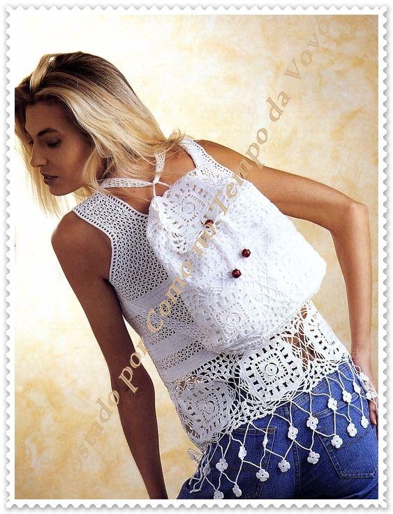 2.JPG (563×737) | crocheting love 3 | Pinterest | Lindo y Blusas