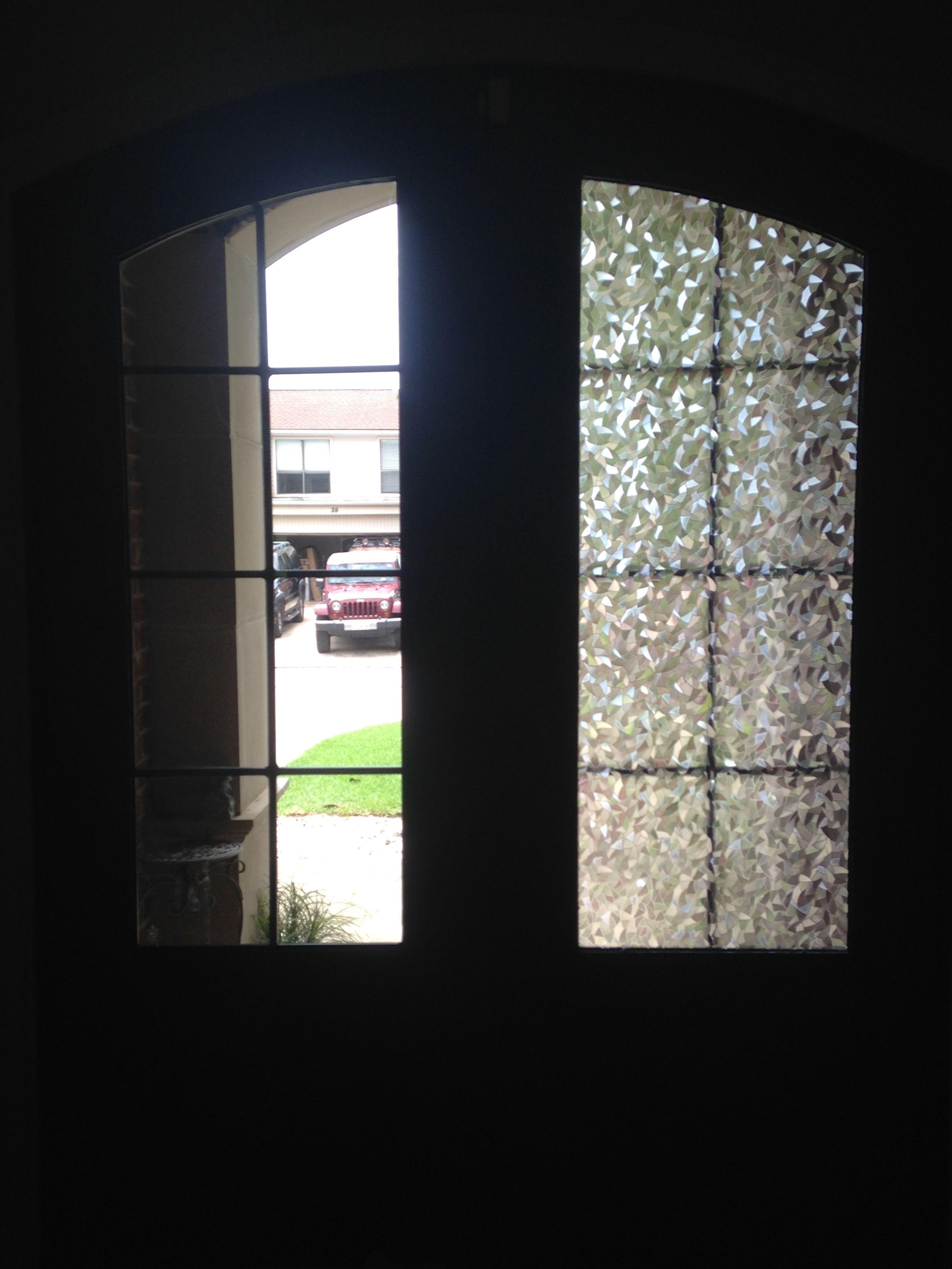 Decorative front door window tint http thewrightstuff for Home front door tint