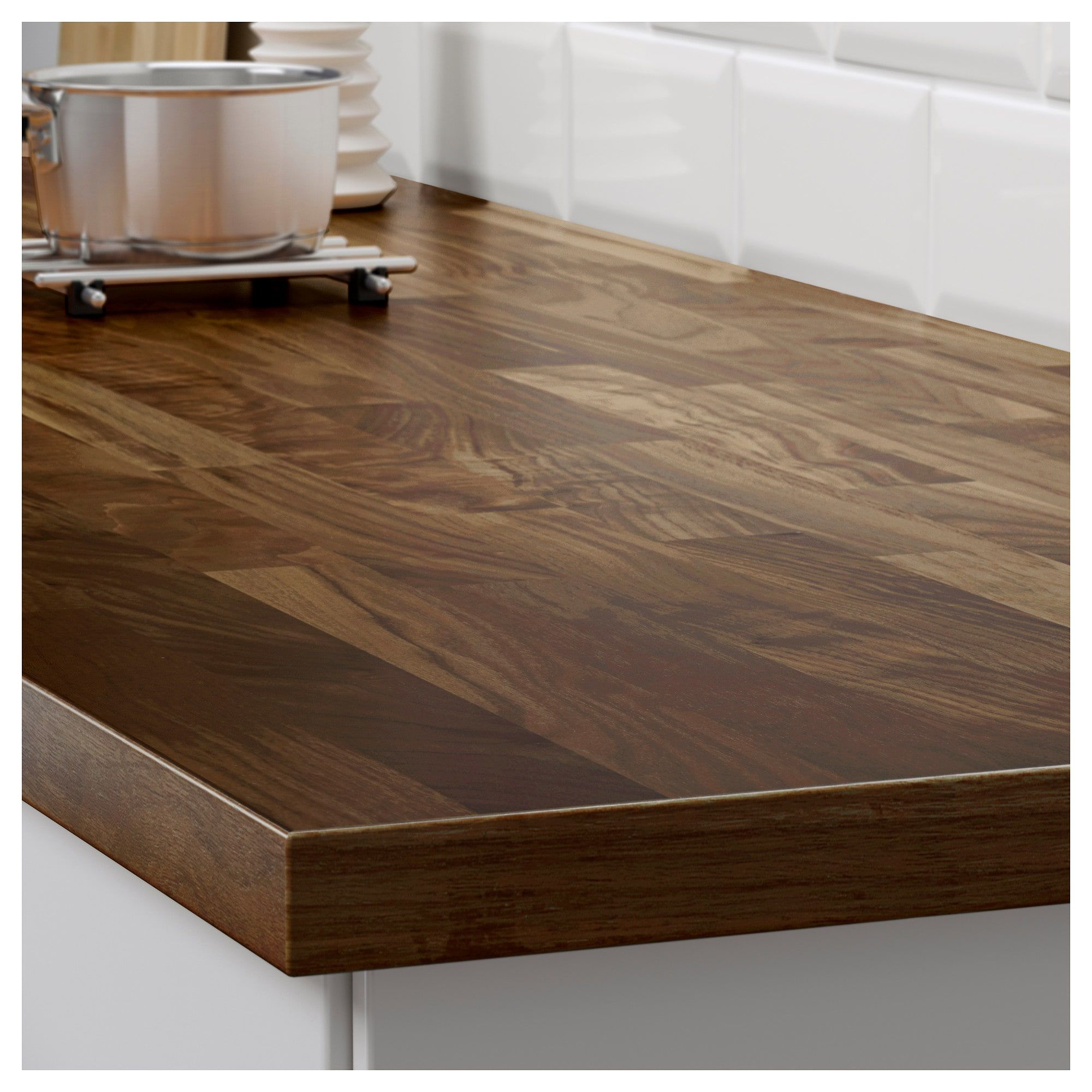 Karlby Countertop For Kitchen Island Walnut Veneer 74x42x1 1 2