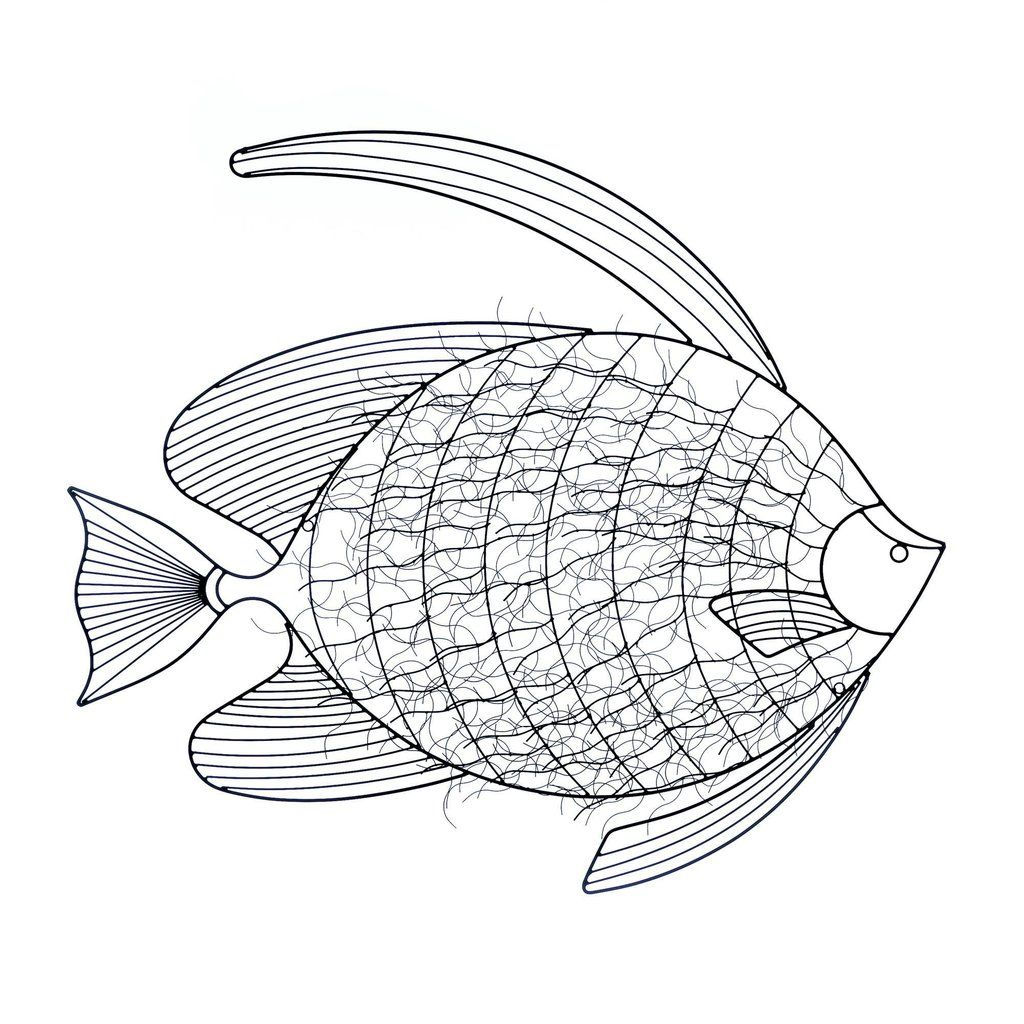 INTRICATE FISH WALL DÉCOR is part of Modern Home Accents Wall Art - Whether you live by the water or just want to bring that waterfront vibe to your home, this iron wall art is the perfect accent to make your room swim with style  Black iron wires are bent to perfection to create an intricate fish with elongated fins  Material(s) IRON Dimensions 32 8  x 1  x 29 2