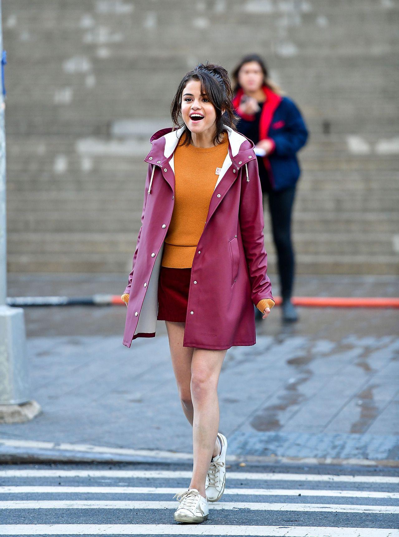 October 4 Selena on set of a movie film in New York, NY