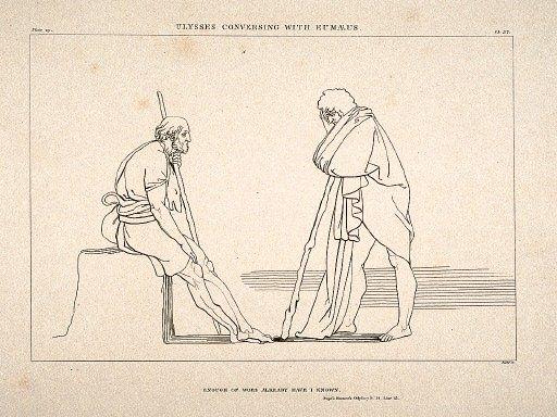 Odysseus and Eumaios