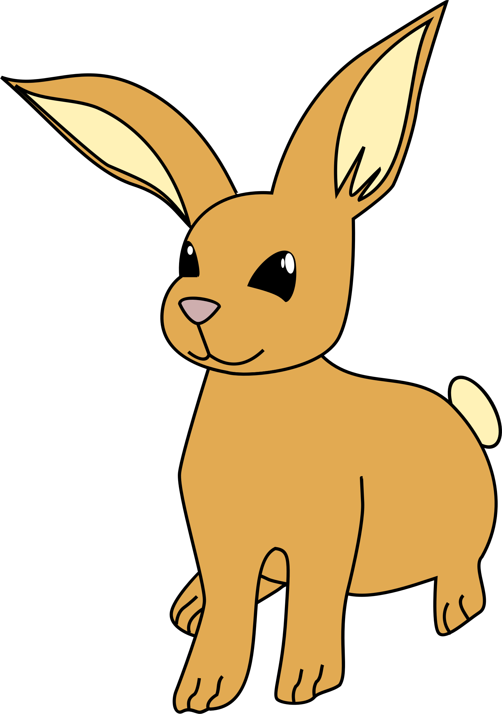Clipart Bunny Gluckliche Tiere Karikaturen Zeichnen Cartoon Menschen Zeichnen