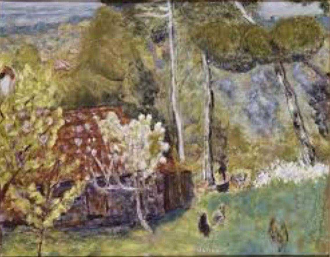 La ferme au toit rouge, Pierre Bonnard.