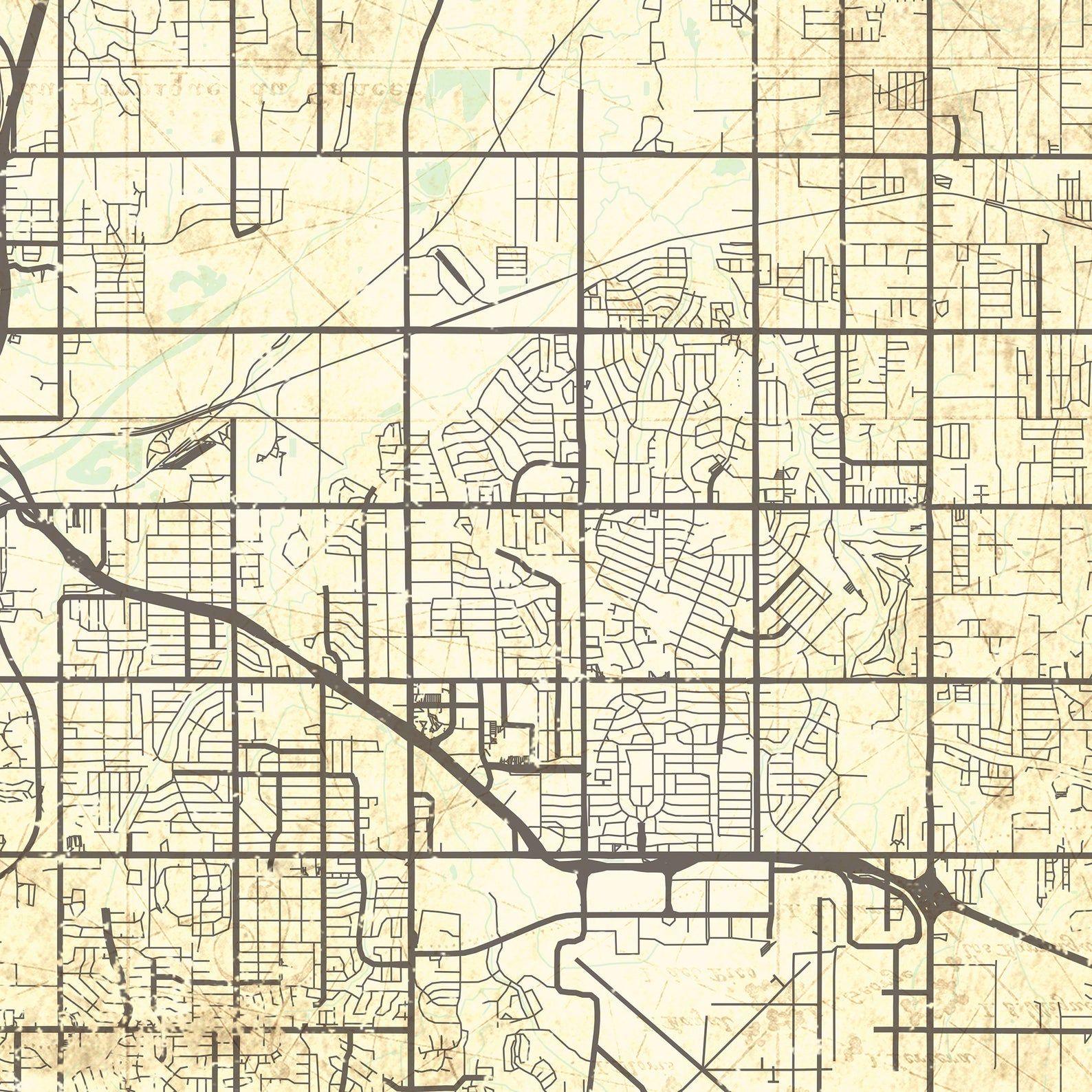 Midwest City Ok Canvas Print Oklahoma Vintage Map Wall Art Etsy In 2020 Map Wall Art Canvas Prints Vintage Map