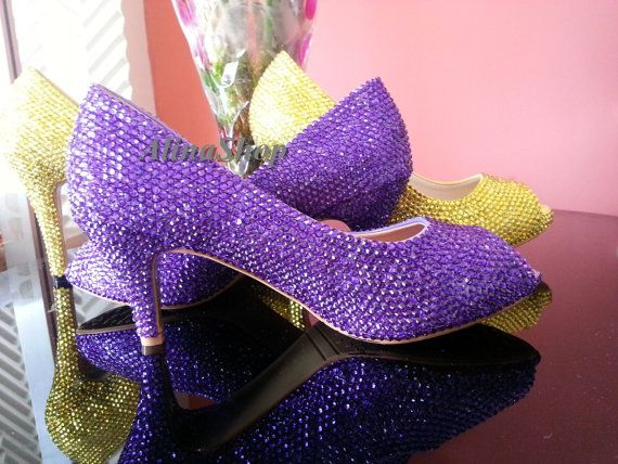 Pictured One For 2 Inch Peep Toe Heels Flat 6 Available Purple Wedding ShoesWedding