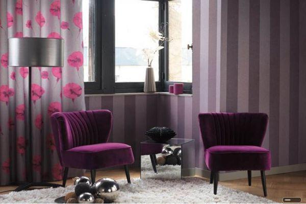 d 233 coration int 233 rieure salon maison fauteuils velours papier peint rideaux textiles