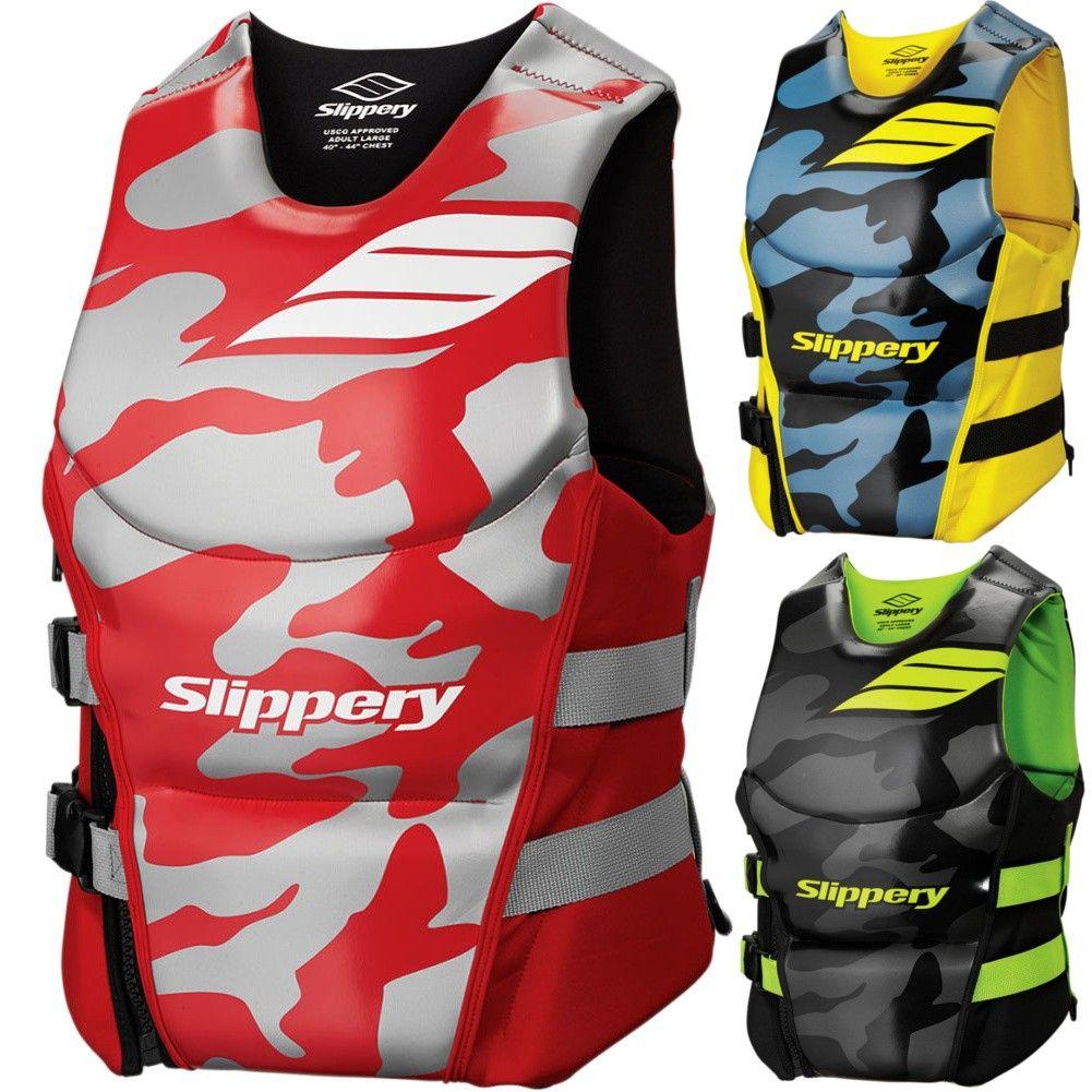 Slippery 17s Array Side Entry Neo Floatation Life Vest Life Vest Vest Wetsuits