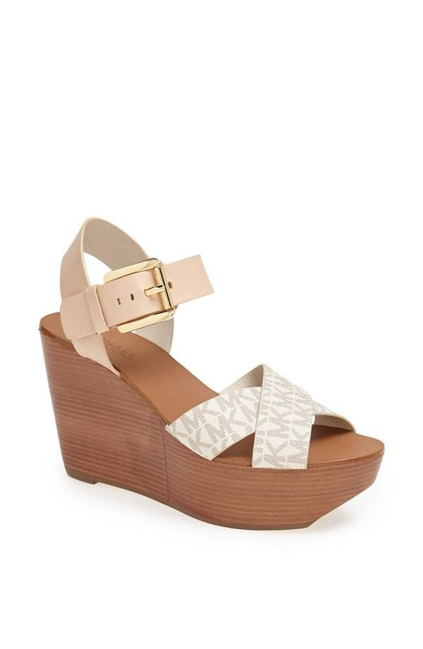 1deea0a8ad4e Perfect for spring! Love the Michael Kors Peggy wedge sandal ...