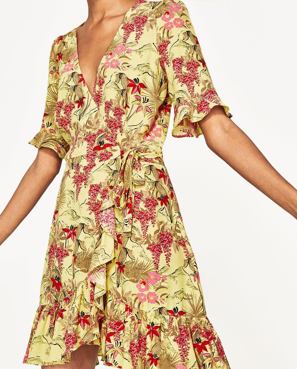 vestido estampado flores-ver todo-vestidos-mujer | zara