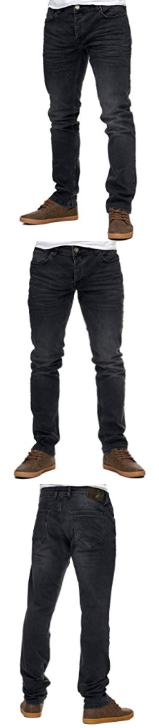 Reslad Jeans Herren Slim Fit Basic Style Stretch Denim Jeans