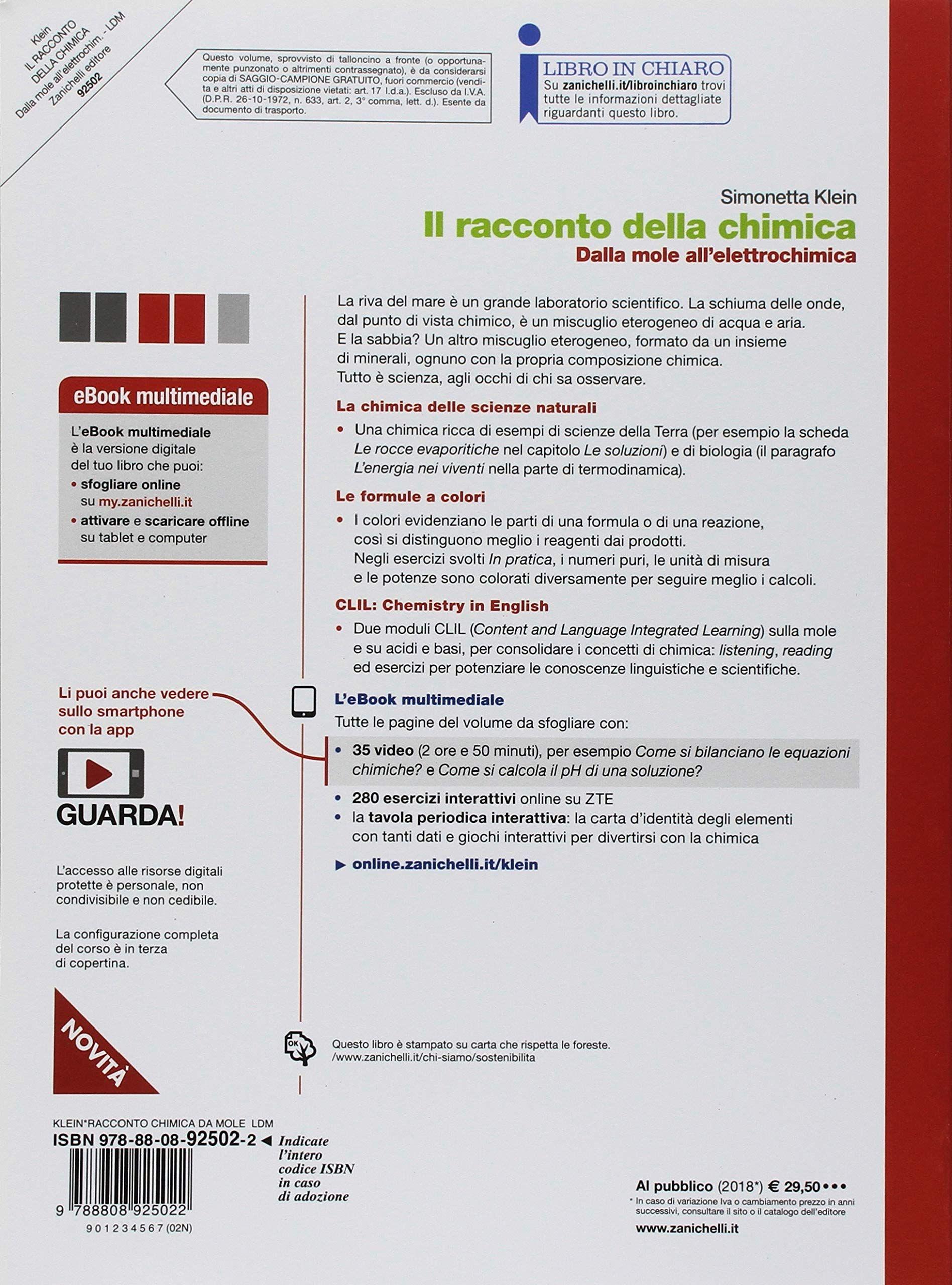 concetti e modelli Per le Scuole superi Chimica Dalla mole all/'elettrochimica