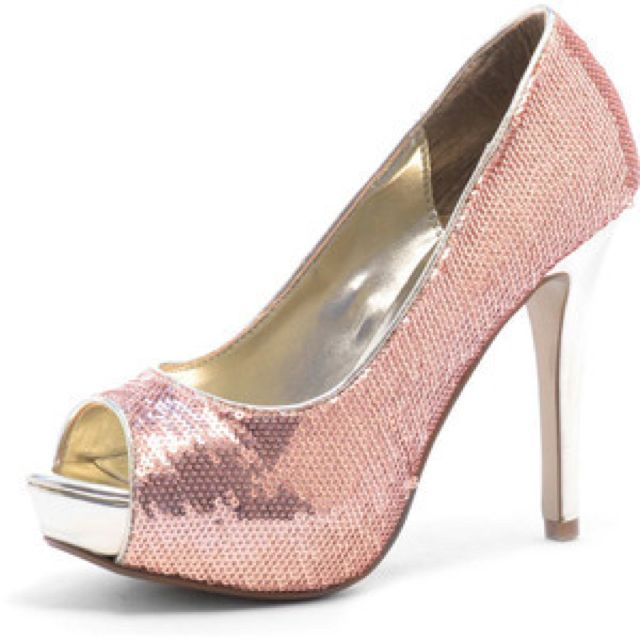 Light pink sequin heels  088fc692bba6