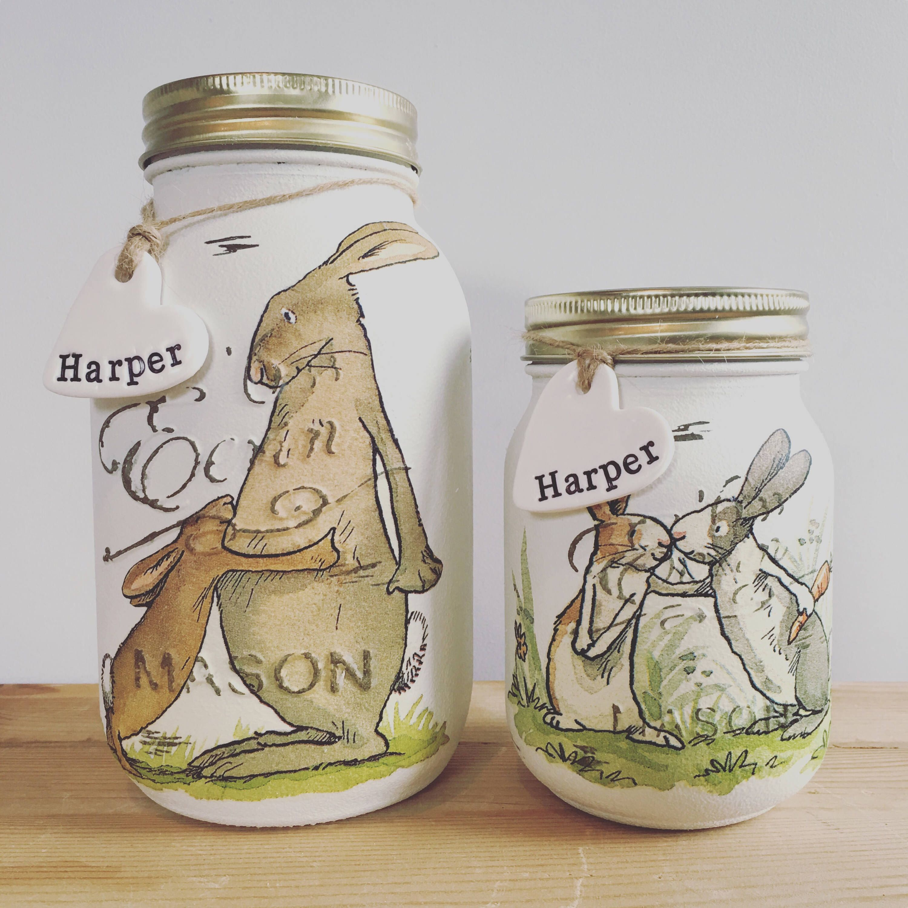 Handmade Jar (Guess How Much I Love You)  Rabbit,