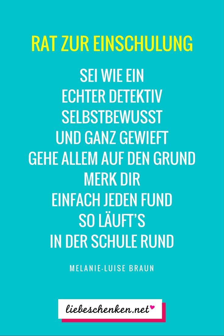 Sprüche zur Einschulung - Glückwünsche & Gedichte zum Schulanfang ...