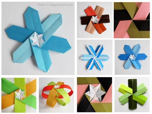 How to Make a Modular Origami Snowflake
