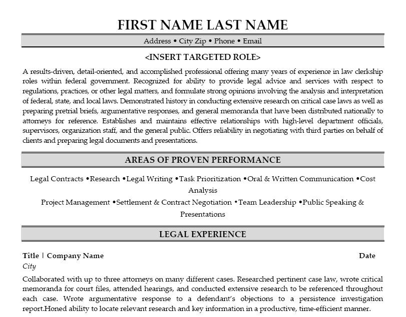 Click Here to Download this Legal Clerk Resume Template! http://www ...