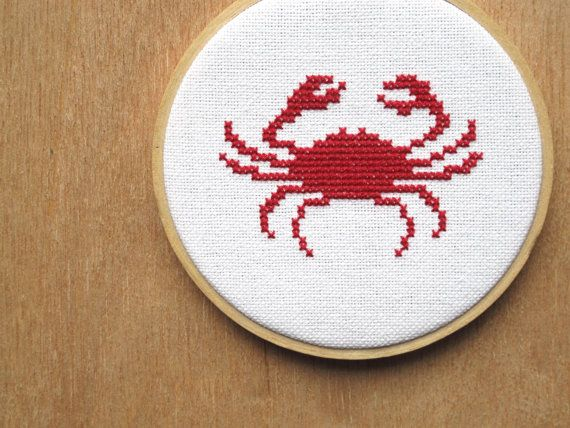 cross stitch crab will nibble your toes  chomp by JulieEllen