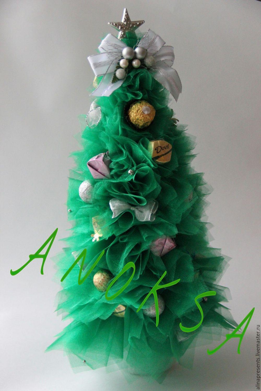 Купить сладкие елочки - ярко-зелёный, сладкая елочка, елочка новогодняя, елочка с конфетами