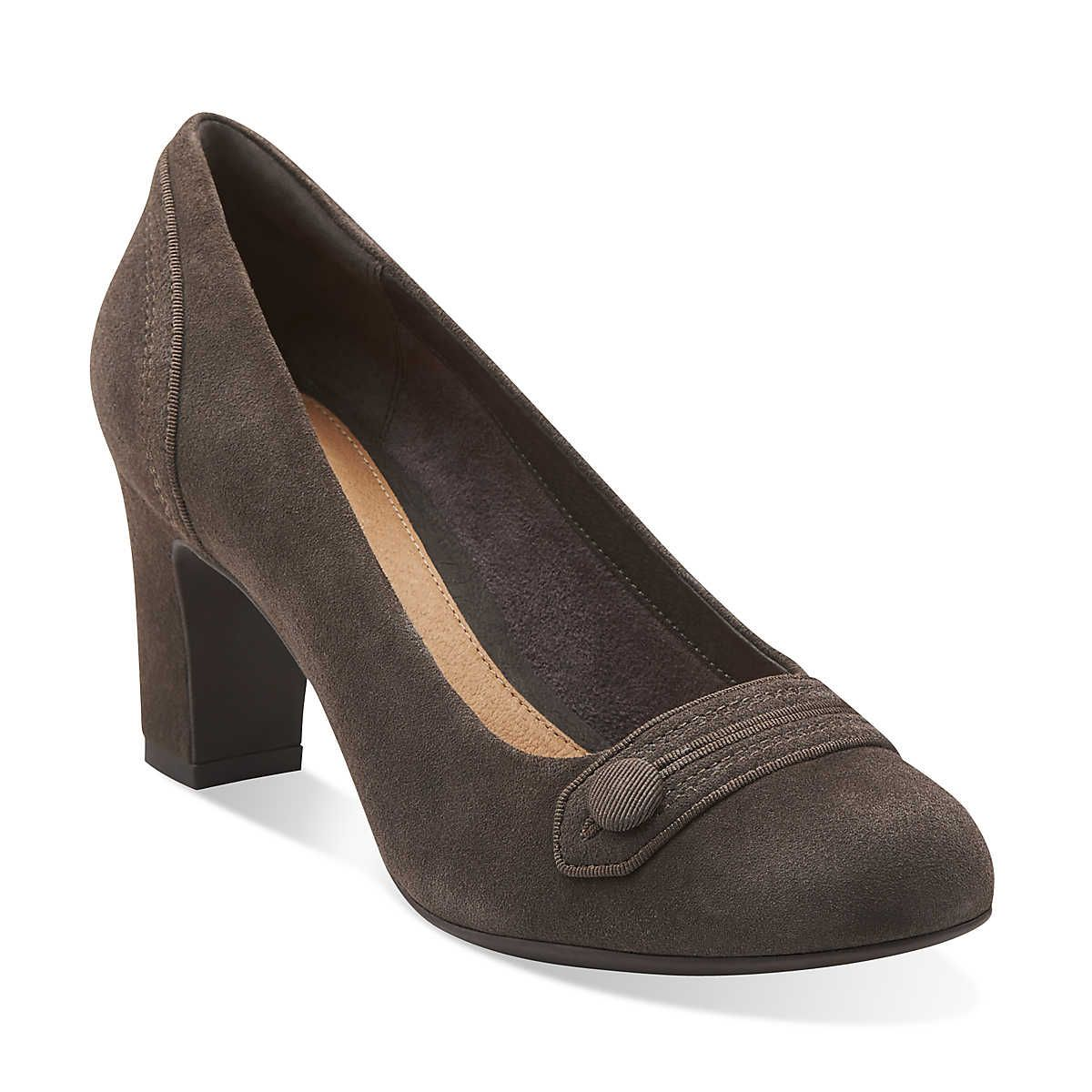 Tamryn Cider in Dark Grey Suede - Womens Shoes from Clarks