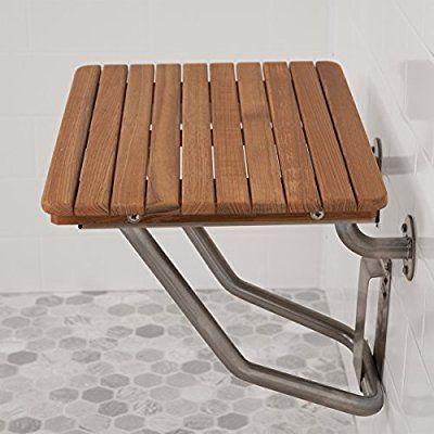 Teak Ada Wall Mounted Folding Shower Bench X2f Seat 36 Quot X 16 Quot Shower Seat Teak Shower Seat Shower Seats