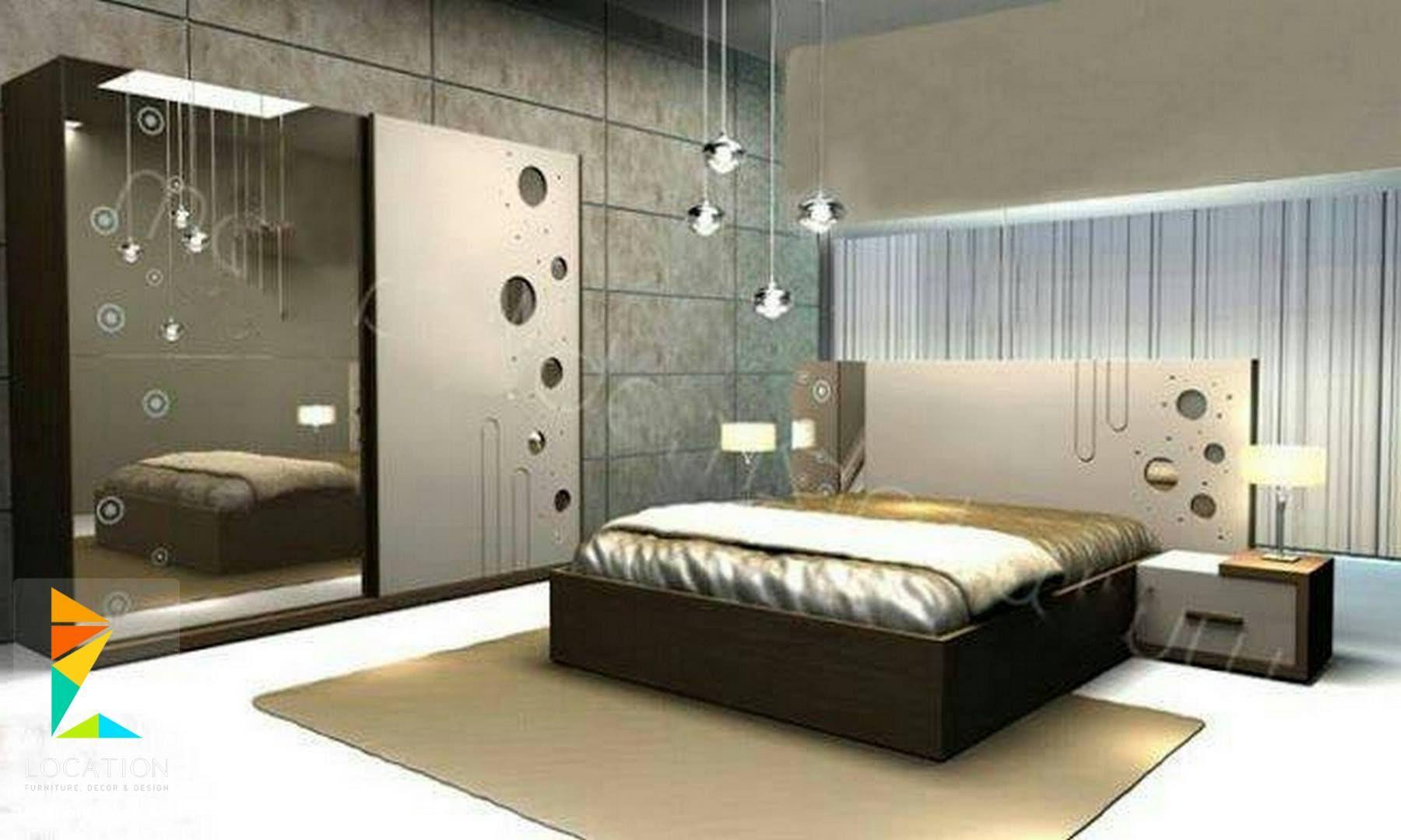 احدث تصميمات غرف نوم مودرن للعرسان بكل شكل ولون موضة 2019 Bed Furniture Design Bedroom Bed Design Wardrobe Design Bedroom