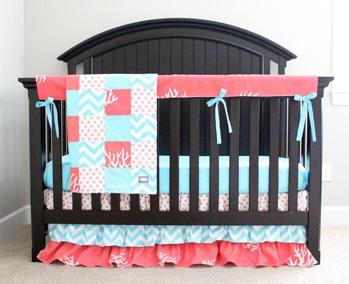 Baby Girl Crib Bedding Set Ocean Theme, Baby Bedding Under The Sea