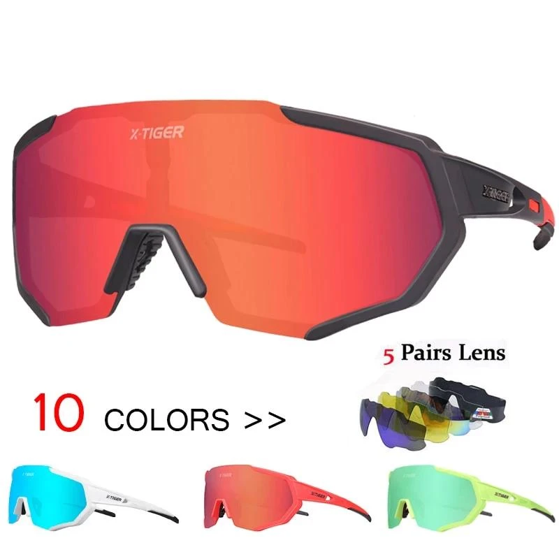 Polarized 5 Lens Cycling Glasses Road Bike Cycling Eyewear Cycling