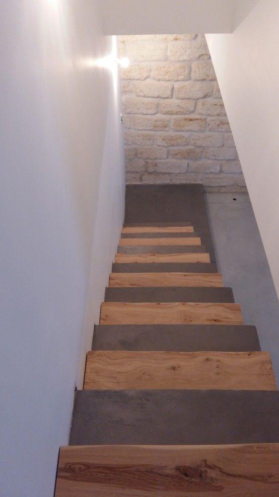 Escalier En Beton Cire Avec Images Escalier Beton Escalier Escalier Beton Cire