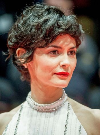 Audrey Tautou Short Curly Haircuts Celebrity Style