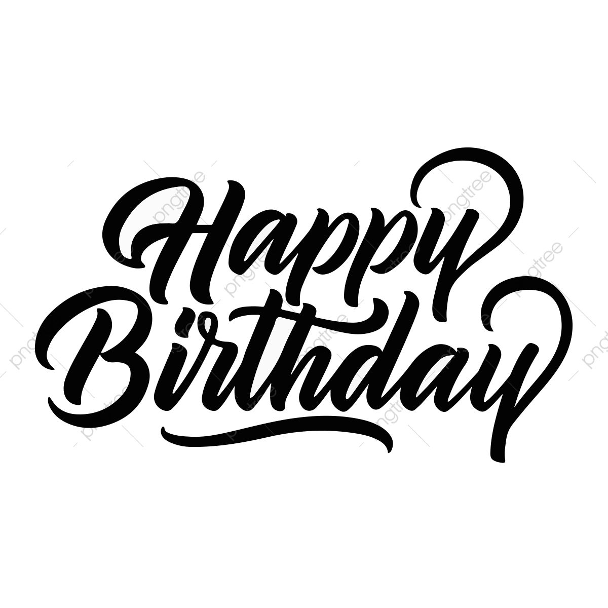 Happy Birthday  Happy birthday calligraphy, Happy birthday