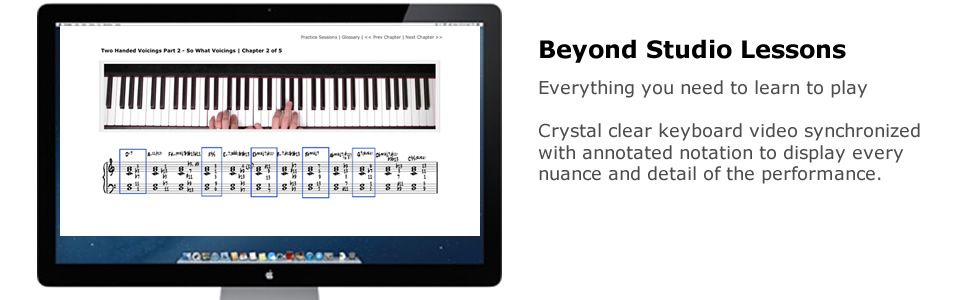 Online jazz piano lessons piano