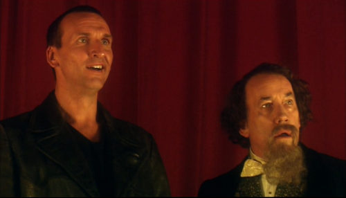 The 9th Doctor And Charles Dickens Doctor Who Christopher Eccleston Doctor