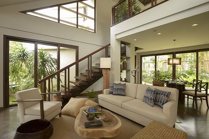 tropical interior living room decorating also hardwood ceiling style | Tagô: A Take on the Modern Bahay-Kubo | House design ...